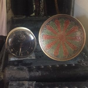 Lot of two antique decorations